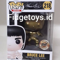Funko POP! Bruce Lee Gold Exclusive #218 - Anime Expo 2018 Bait