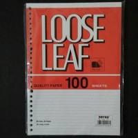 Isi binder file / loose leaf / kertas binder A5 100 lembar