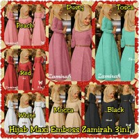 Hijab Maxi Emboss Zamirah 3in1