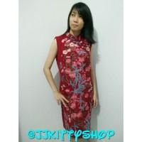 Dress Cheongsam Xincia Imlek Red
