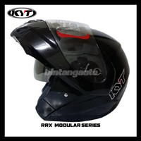 Helm KYT RRX Modular Flip Up Solid Black Metallic