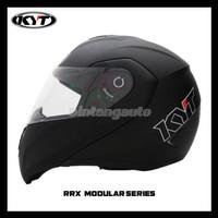 Helm KYT RRX Modular Flip Up Solid Black Doff
