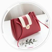 Shoulderbag Tas Wanita Kombinasi 2 Warna Casual Mini Tas Import Batam