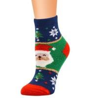 Kaos Kaki Anak Snowman / Santa Klaus Hijau Merah Kuning Christmas