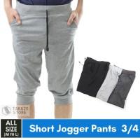 Jogger Pants 3/4 Polos Celana Training Sweatpants Murah Babyterry