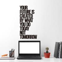 Wall Stiker Your Future Hiasan Dinding Kaca Cutting Sticker Quotes Caf