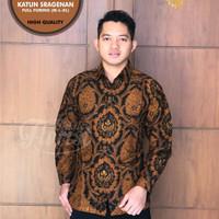 Kemeja batik sogan solo   baju batik pria   hem batik cowok BA002