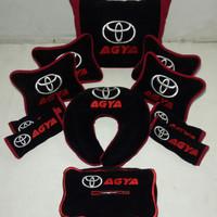 Aksesoris mobil Toyota AGYA Part 2 Headrest sandaran jok Bantal mobil
