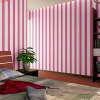 6255 -1 Pink Salur Wallpaper Dinding 10M x 45Cm