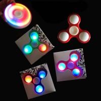 Spinner Lampu LED 7 warna fidget Spiner mainan antistress
