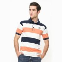 Johnwin - Slim Fit - Polo Shirt - Motif Garis - Multi Color