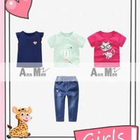 2-7 setelan 4in1 love balon udara kucing set jeans anak cewek import