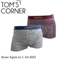 Boxer Agree   Celana boxer pria isi 2   celana dalam pria boxer 6603