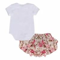 Baju Bayi Jumper Anak Bayi Perempuan Set Celana Bunga