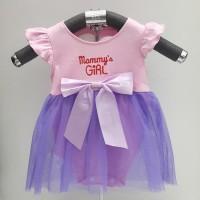 Baju Bayi Perempuan Dress Jumper Mommys Girl Set Bandana dan Sepatu