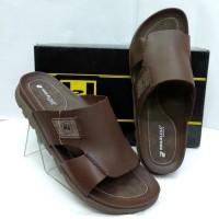 Sandal kulit pakalolo boots N0193 coklat tua sendal casual pria ori