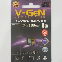 Memori Micro Sd V-Gen Memory Card 8gb Class 10 Turbo Vgen Original mmc
