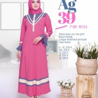 ALNITA GAMIS AG 39 PINK DRESS WANITA KAOS BRANDED