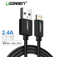 Kabel Data 128 - Ugreen Charger Kabel Usb untuk iPhone X MAX 7 Plus 2.