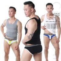 SEOBEAN TTSB-012 KATUN Tanktop Kaos Oblong Singlet Gym Fitness Jogging