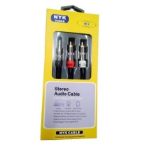 Kabel Aux to RCA NYK Gold Plated 1.5m