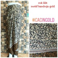 Rok Lilit Batik Kebaya Motif Cacing Gold