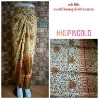 Rok Lilit Batik kebaya motif kuping gold