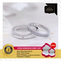 Cincin Kawin Palladium grade E + Emas putih standar 12k PH001