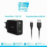 ANKER Charger Powerport plus 1 with Quick Charge 3.0 and Micro USB Ori