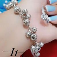 gelang cincin lapis emas putih 24k 0125