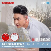 Takstar DW1 IEM In-Ear Bluetooth Wireless Earphone - Merah