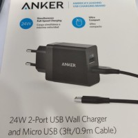 Anker 24W 2-Port USB Wall Charger - Resmi Anker