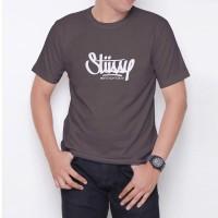 Kaos T-Shirt Distro Abu-Abu stussy W6187