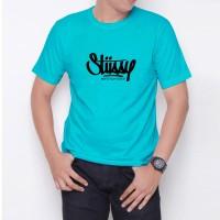 Kaos T-Shirt Distro Biru Tosca stussy W6187