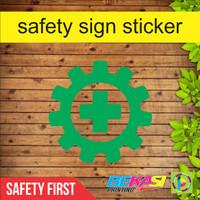 Cutting Sticker Logo Safety First Helm K3 Proyek Ukuran 4 cm
