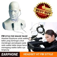 Headset Handsfree FBI Walkie Talkie HT Taffware Earphone FBI-05