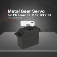 Servo Metal Gear untuk rc 1/12 feiyue fy-01 fy-03 mobil truk