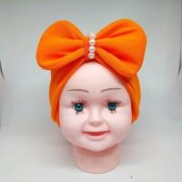 Turban Pita Mutiara Bayi Anak Hijab Jilbab Anak