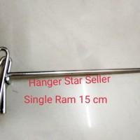 single ram 15 cm chrome stenlis
