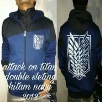 jaket attack on Titan double sleting