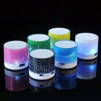 Speaker Bluetooth Karakter Lampu Led Disco Audio Music player