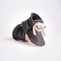 Baby Chukka Boots - Textured Black (Sepatu Bayi PYOPP)
