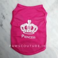(B3) Baju Kaos Anjing Kucing Hewan Pet Dog Cat Princess Clothes Pink
