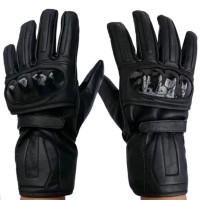 Sarung Tangan Motor Genuine Leather Sarung Tangan Kulit Panjang