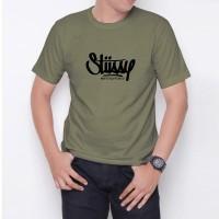 Kaos T-Shirt Distro Hijau Army stussy W6187