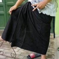 sarung celana kain katun hitam polos