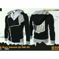 jaket harakiri attack on Titan hitam snk16