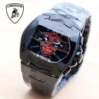 TERLARIS!!! Jam Tangan Pria Lamborghini Rantai Black