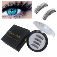 3D False Triple Magnetic Eyelashes / Bulu mata palsu magnet