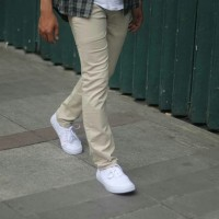 Celana Chino Pria Cream PREMIUM Keren / Celana Bahan / Celana Panjang